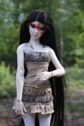 BJD - Black hair of Nym by beedoll
