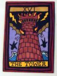 Tower Tarot atc by mintdawn