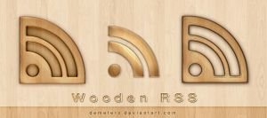 Wooden RSS Icon by demeters