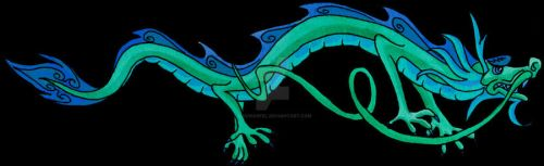 Blue Dragon by DavinArfel