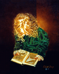 Girl with Book by hank1