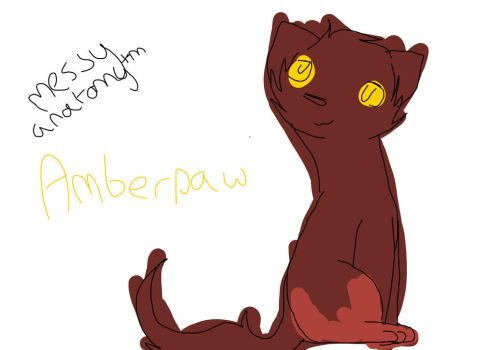 A very rushed Amberpaw by Darkleaf-Kitties