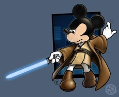 Jedi Mickey by agent-elf