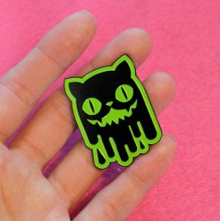 Slime Cat Enamel Pin by loveandasandwich