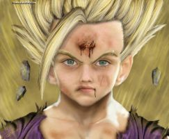 Real Gohan 2 Untooned Papiel by curi222
