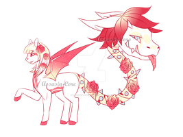 OC Camile and Rose- Primal Plant Pony by Assasin-Core