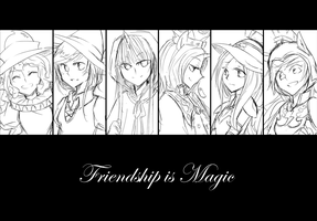 Friendship is Magic (sketch) by ya0427