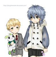 dramatical murder -- noiz and aoba by xforgottentales
