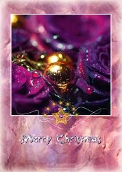 Purple Christmas CARD by Lilyas