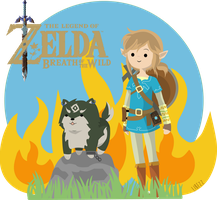 Link y wolf Link botw by Libezz