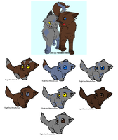 Breedable cat's Litter 1 by ShadowGothAdoptables