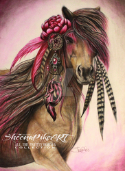 Magenta Warrior by SheenaPikeArt