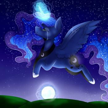 .:Rise Of The Moon:. .:+Speed-Paint:. by TimberFluff