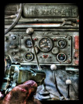 Browning 1911 and Old Jeep Interior by Drchristophers