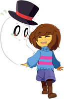 Frisk and Blooky by Kanestrelli