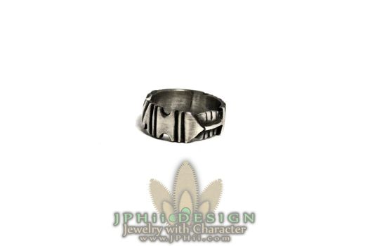 Art Deco Sterling Silver Band by jphiijewelry