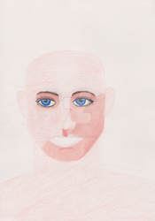 Picasso style coloured pencil sketch (WIP) by Beowulf1976