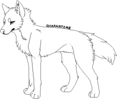 free wolfy lineart by one-sick-puppy