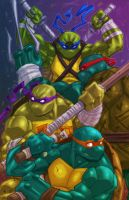 TMNT Colored Print by ZipDraw