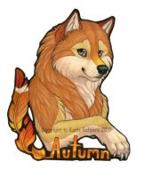 Autumn Bust Badge by KatieHofgard