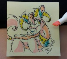 Deer/Goat....thing? Kinda cute though. by Mychelle