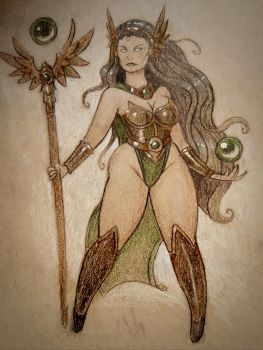 Green Sorceress by TheeKennyMcB