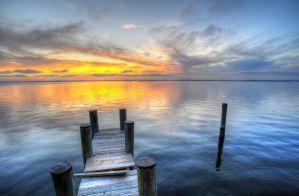 Rickety Pier and Set by Enkphoto