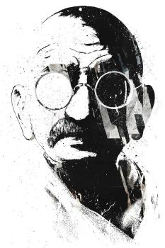 Gandhi by axcy