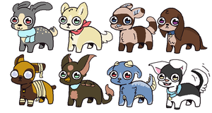 Small adopts 2/8 Open 10-45 poin by Vulpes-Adopts