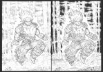 The first Super saiyan pencils vs.inks 2018 by barfast