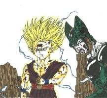 gohan vs cell by THEGODSLAYER91
