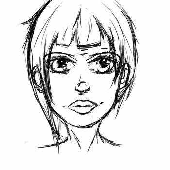 Face sketch 1 by captain3