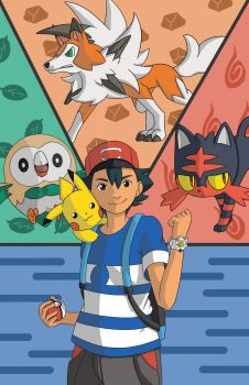 Pokemon Sun/Moon - Ash's Team by DREAMSOFASINGER
