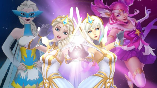 [MMD]Elsa and Lux by HiccElsa32