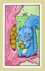 7 of pentacles by smushbox