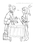 Collab Sketch - A Hard Bargain by Anilede
