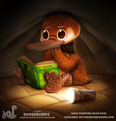 Daily Paint 1790# Goosebumps by Cryptid-Creations