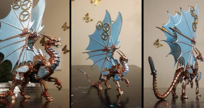 Reaper Gearwyrm Clockwork Dragon Miniature by Dreamkeepers