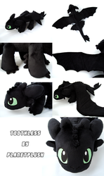 Toothless Plush by PlanetPlush