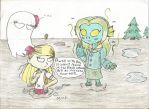Don't Starve: Winona meets Wendy and Abigail by Basher-the-Basilisk