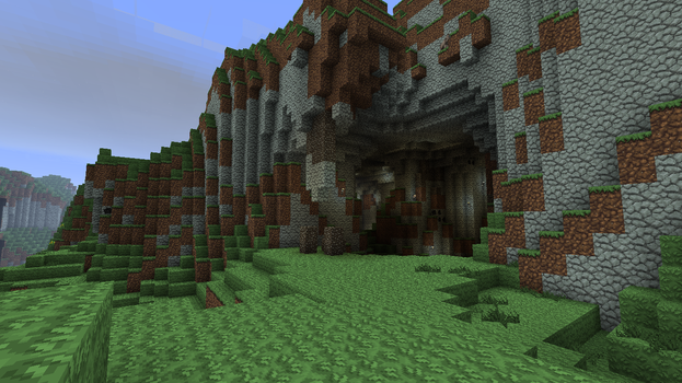 Giant Natural Cavern: Entrance by ASkinnyWhiteGuy