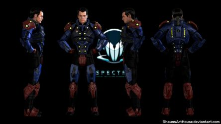 Mass Effect Occitania - Spectre Cal Reeves by ShaunsArtHouse