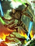 Scary Tree Grievous by GENZOMAN