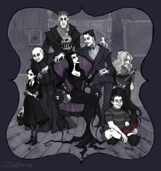 The Addams Family by IrenHorrors