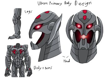 Ultron (Primary Body Design) by edCOM02