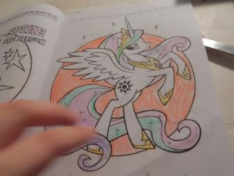 princess celestia color by flickahorses