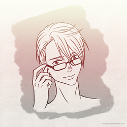Reading Glasses (Sketch) by Mangsney