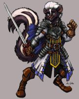 Alonzo the Skunk Fencer - Commission by TheLivingShadow