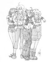 Cheer Girls in College by Tselsebar