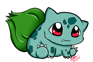 #001 Bulbasaur by PuruPyonn